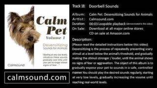 Door Bell Sound effect – Desensitizing Sounds for Dogs, Cats and other animals