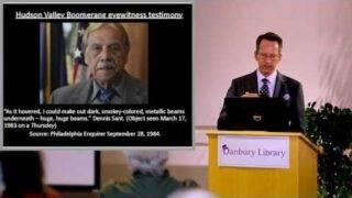 Hudson Valley UFO Sightings Revisted (Michael Schratt Talk Danbury Library)